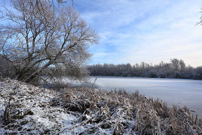 One of our many gravel pits in winter